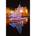 France Martigues city canal night boat