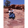 rock geology mom son love garden god colorado_springs colorado vacation trip