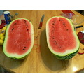 this is my little sister's watermelon she grew it herself, and gave it to me