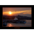 istanbul sunset new mosque golden horn