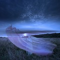meadow violet blue sunrise surreal series landscape dream dark voltrik keitology