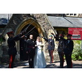 6. When the bride and groom came out Hattie and Stephen took them for a run around the Malvern Hi...