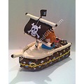 Pirate Ship Diaper Cake baby shower centerpiece