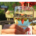 reflectionthursday whitewine glass daughter parasol
