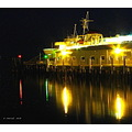 Night scene reflection waterfront PortAngeles