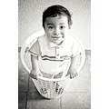 play boy kid mexico basket portrait