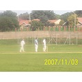 gertjie brakpan cricket club spin bowler proudly south african and white