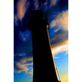 lighthouse new brighton silhouette sunrise sky clouds dramatic