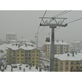 Ankara Turkey kecioren teleferic ropeway snow vinter