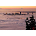 Fog Vancouver BC Canada weather sunrise inversion morning