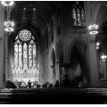 nyc bw church light shadow architecture building interior