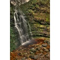 Peak District Derbyshire Bleaklow Waterfall Middle Black Clough