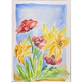 aquarell blumen flowers