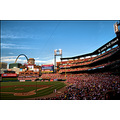 stlouis missouri us architecture stadium baseball fans cardinals 081009 2009