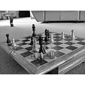 Death of a king Chess B W
