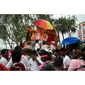 lord ganesha idol immersion procession mtabu rajasthan india