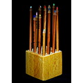 wooden pencil holder hand made