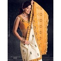 Off White Silk Saree with Blouse
