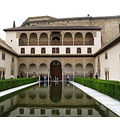 Spain Granada Alhambra Courtyard