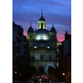 church baroque madrid spain afternoon architecture religious night