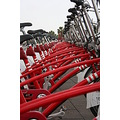 red bicycles barcelona 2010