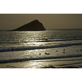 wembury beach sunset