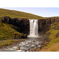 grass river rock nature Iceland water landscape waterfall white green