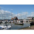 Holland Marken wooden houses harbour