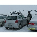 Snowing in the Remarkables carpark