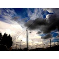 cloud forms over railway siding