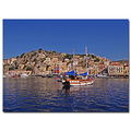 greece symi harbour boat view greex symix harbg boatg viewg housg