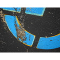 parking lot black blue pavement concrete