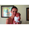 Me My godchildSimone5 days old