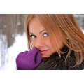 woman girl sexy russian winter