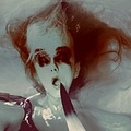 artistic portrait smeared macabre woman people water series keitology