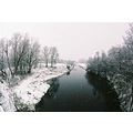winter river snow
