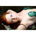 mermaid red head shell bra pale skin laying sexy girl green eyes JIP