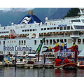Vancouver Island bound ferry at Horseshoe Bay.  Try original view if you have the time.