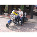 Riding a Harley D. in Fort Worth, Texas USA