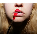 lips paint red