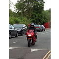 A slightly different picture of Neil as he tools it through Ironbridge.