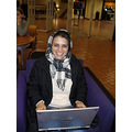 in a cold evening, in library, trying to study...