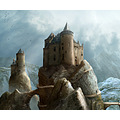castle rock landscape photomontage medival