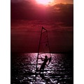 sky sea colours of red people water sports activity artistic series keitology