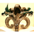 Art ARCO Metal Headgear Headpiece Feathers Abstract
