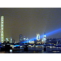 London Thames laser night