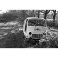 destroy white and black estafette car 2005