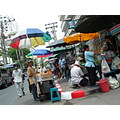 Sidewalk eateries on the streets of Bangkok Thailand