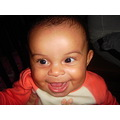 smile two teeth laughing baby girl olivia face