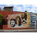 Mural fortaleza casa wall muro centro downtown people